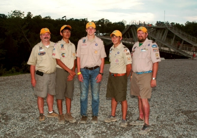 Troop 371 participants at the 2013 Jational Scout Jamboree.